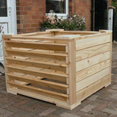 Poyle Wooden Compost Bin Cedar