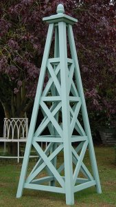 The Grand Wooden Garden Obelisk