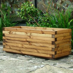 Oblong-Wooden-Garden-Planter