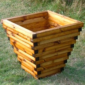 Big Banbury wooden garden planter.