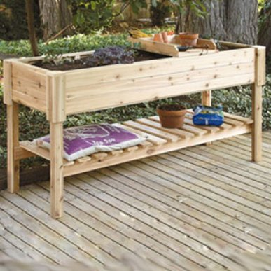 Highlander-cedar-Raised-Garden-Planter